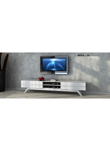 Sanal Mobilya Rüya 12 Tv Ünitesi Beyaz Beyaz